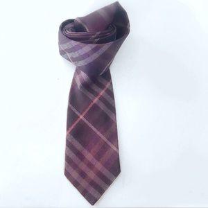 Authentic Men's Burberry Checked Silk Tie
